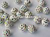 Намистини шамбала Білі-хамеліон 10 мм