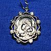 Серебряная нательная икона Богородица 3738-р