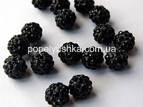 Намистини шамбала Чорні 10 мм