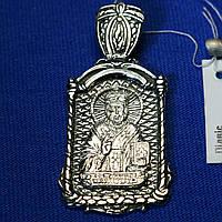 Серебряная ладанка Николай Чудотворец 3338-ч, фото 1
