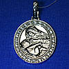 Иконка из серебра с фианитом Богородица 3740-ч