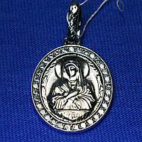 Серебряная подвеска икона Богородицы 3746-ч