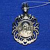 Серебряный образок Богородицы с фианитом 37805-ч