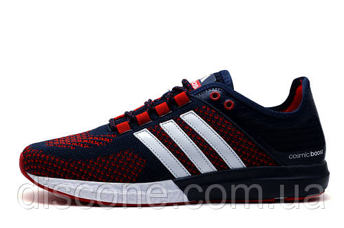 Кроссовки мужские Adidas Cosmic Boost, текстиль, синие