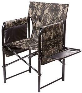"""Кресло складное """"Режисер"""", складное кресло с откидной полочкой и накладным карманом, для отдыха, для кемпинга,"""