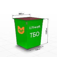 Контейнер для мусора 0.75 м.куб.