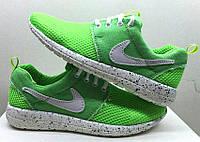 Кроссовки Nike Roshe Run весна-лето салатовые  NI0081