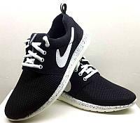 Кроссовки подростковые Nike Roshe Run весна-лето черные  NI0081