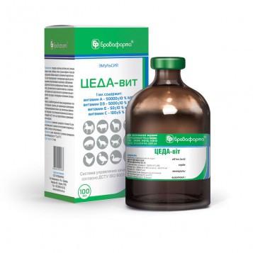 Цеда-вит 100 мл витаминный препарат, комбинированная кормовая добавка для животных и птицы