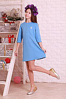 Подростковое платье  с прицепной брошью «chanel»