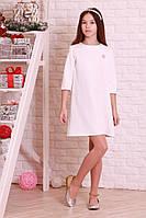 Платье свободного кроя белого цвета