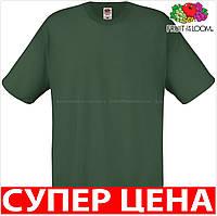Мужская футболка легкая 100% хлопок Цвет Тёмно-Зелёный (Бутылочный) Размер L 61-082-38 L