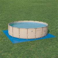 Монтаж наземного бассейна с углублением.