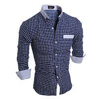 Клетчатая синяя рубашка Коломбо, фото 1