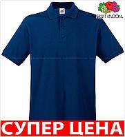 Мужская поло рубашка 100% хлопок Цвет Тёмно-Синий Размер S 63-218-32 S