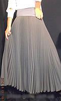 Женская юбка  плиссе солнце -клёш в пол