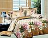 Полуторное постельное белье Ranforce 3D с розами