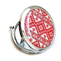 Женское карманное зеркало «Вышиванка»