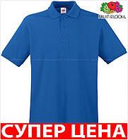 Мужская поло рубашка 100% хлопок Цвет Ярко-Синий Размер XXXL 63-218-51 3xl