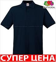 Мужская поло рубашка 100% хлопок Цвет Глубокий Тёмно-Синий Размер XXXL 63-218-Az 3xl