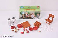 """Мебель """"Happy Family"""", флоксовые животные, кухня, посуда, 012-04B"""