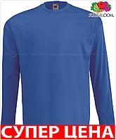 Мужская футболка с длинным рукавом классическая 100% хлопок Цвет Ярко-Синий Размер XXL 61-038-51 Xxl