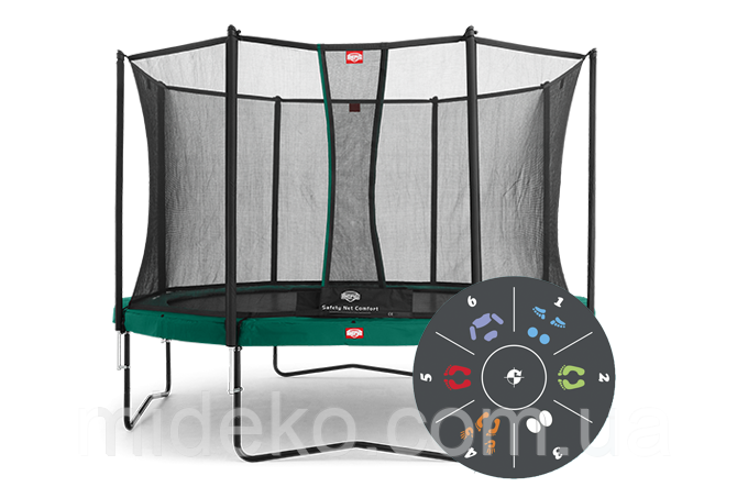 Батут Berg Champion 430 Tattoo + Safety Net Comfort 430