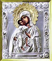 Федоровская икона Божьей Матери в серебряной ризе
