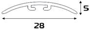 Порожек 0,9 м алюминиевый стыкоперекрывающий №1