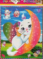 Наклейка-стикер 3D детские Китти, Кошечки