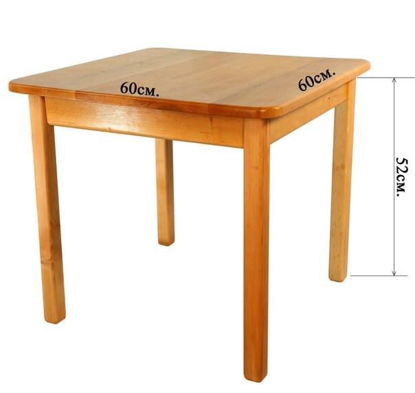 Стол детский деревянный c квадратной столешницей. F45