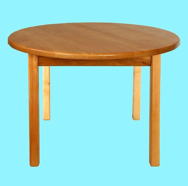 Стол детский деревянный c круглой столешницей. F52