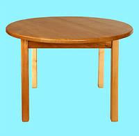 Детский Стол деревянный c круглой столешницей. F52