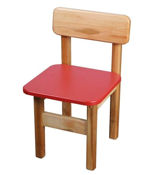 Стульчик детский деревянный красный. F34