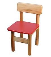 Детский Стульчик деревянный красный. F34