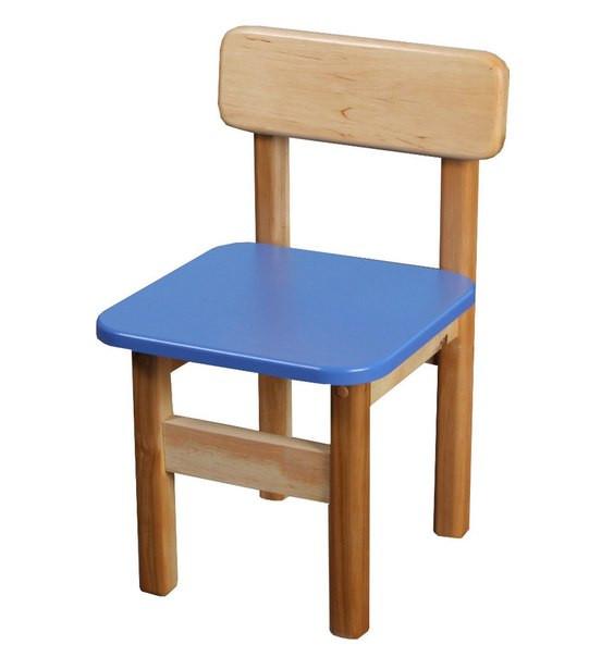 Стульчик детский деревянный синий. F35
