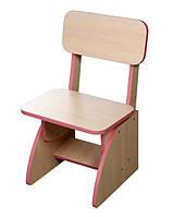 Детский стульчик растущий розовый. F38