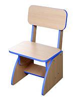 Детский стульчик растущий синий. F39