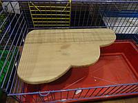 Полка деревянная Ромашка большая угловая в клетку 40х25 см