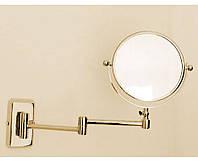 Золотое косметическое зеркало с 2,5 кратным увеличением Pacini & Saccardi Oggetti Appoggio 30125