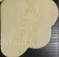 Полка деревянная Ромашка средняя угловая в клетку 21-(22)х21-(22)см
