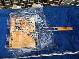Решетка барбекю двойная, для гриля, размеры 55х27х24 см, плоская малая