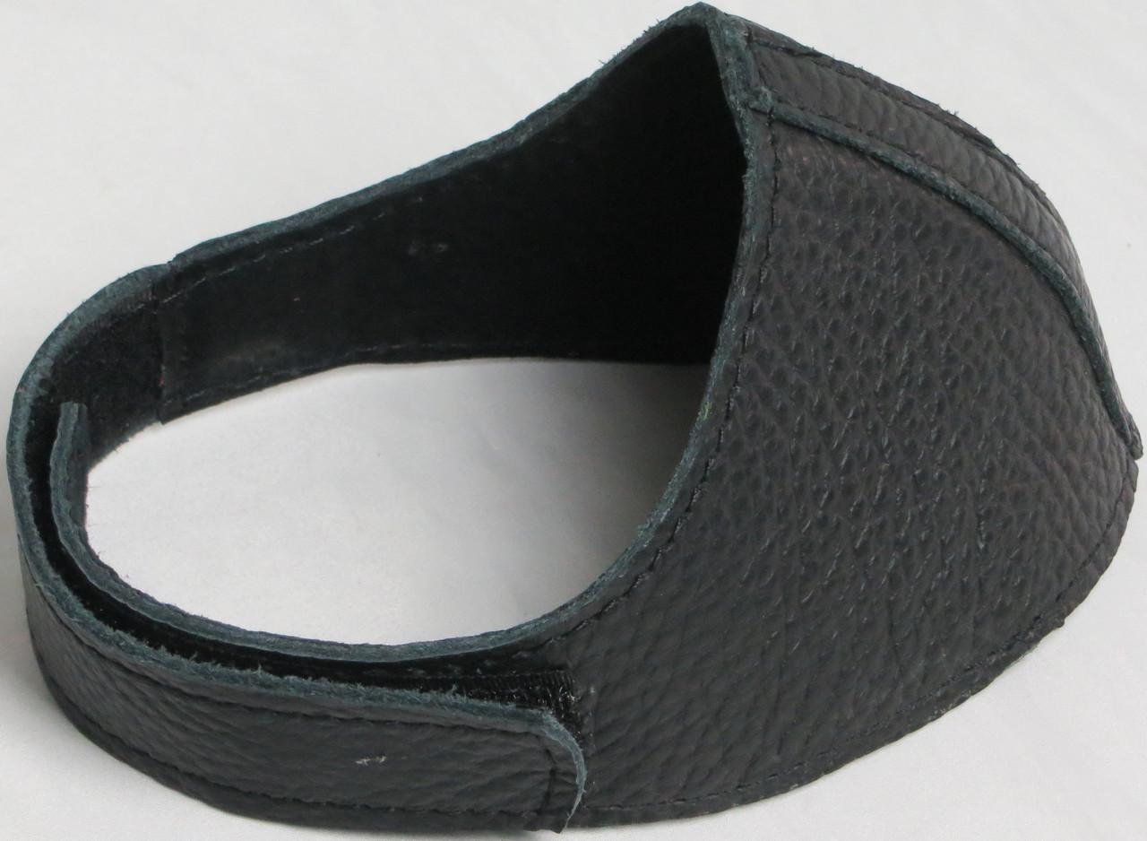 Автопятка кожаная для женской обуви чёрная