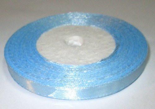 Лента атласная 6 мм, голубая