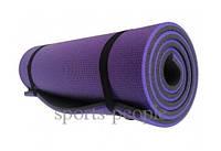 Коврик (каремат) для туризма и фитнеса, двухслойный, 10 мм, разн. цвета