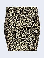 Юбка Леопардовый принт
