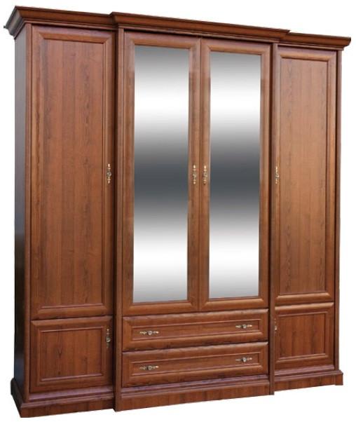 Шкаф Людовик New 4Д2Ш 2250 Мебель-Сервис