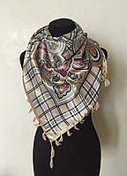 Женский платок косынка шелковый