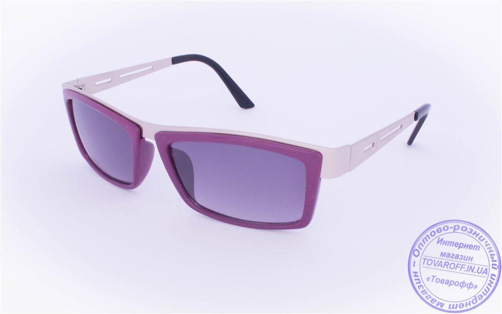 Оптом женские солнцезащитные очки - Фиолетовые - 004