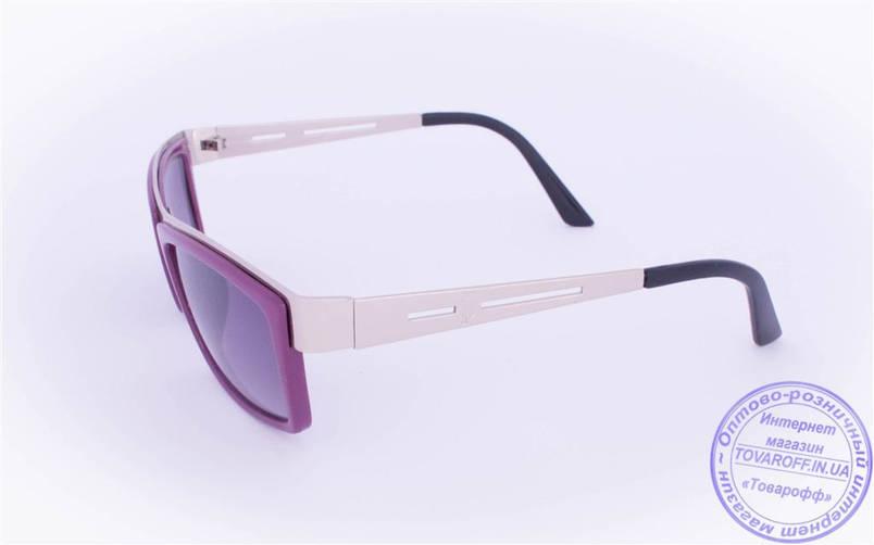 Оптом женские солнцезащитные очки - Фиолетовые - 004, фото 2
